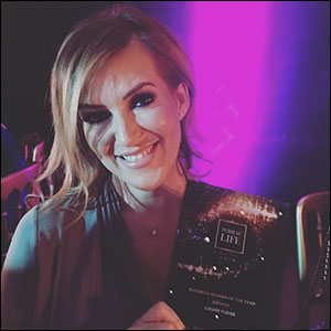 top hairdresser in Little Sutton wins bronze in business woman of the year award, Cheshire