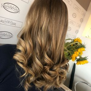 balayage hair colour at louise fudge hair salon in Cheshire