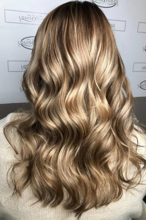 blonde-balayage-with-brown-roots-louse-fudge-colour-salon-Chester-Cheshire